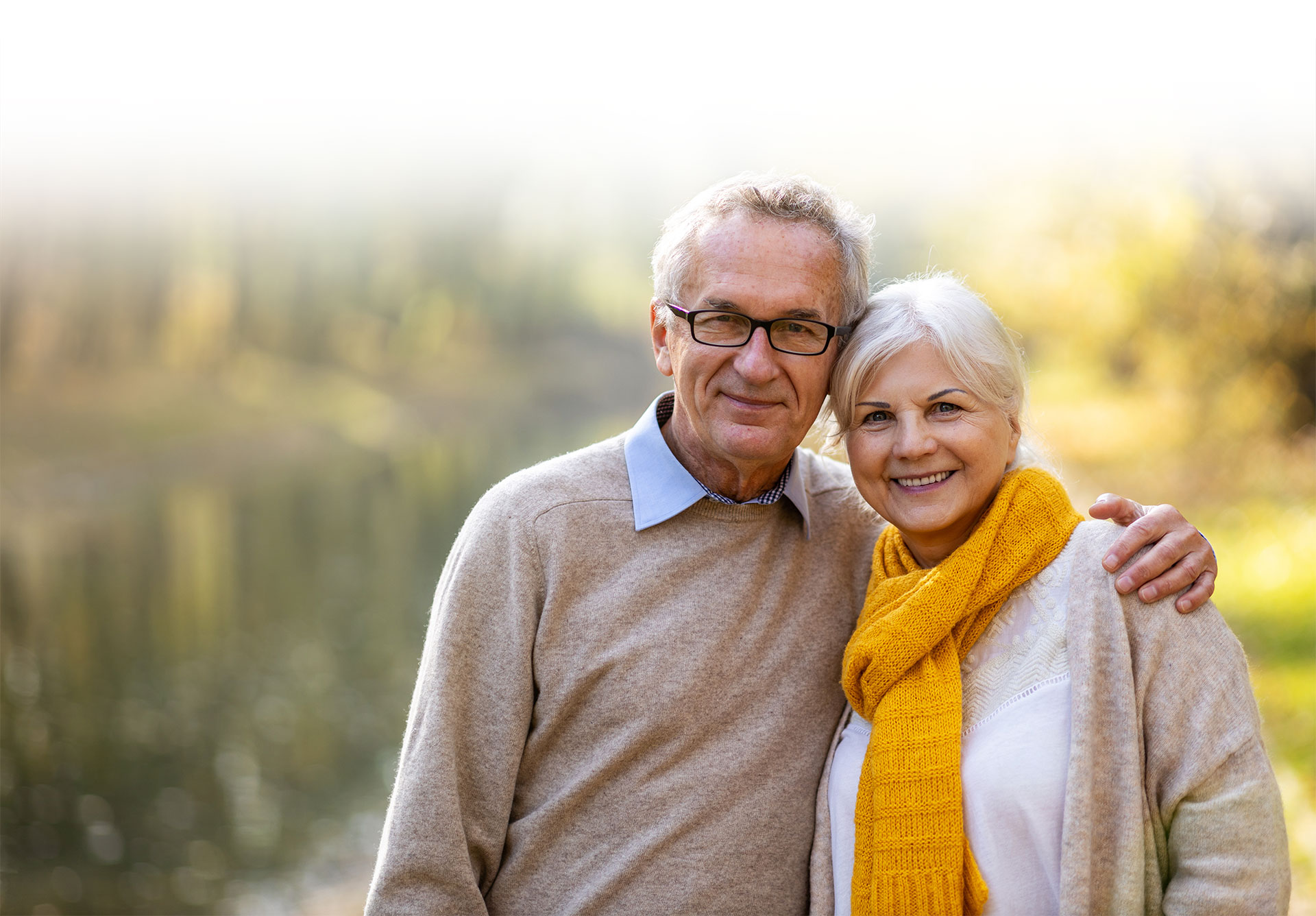 elderly man woman couple